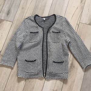Halogen cardigan sweater with faux leather trim